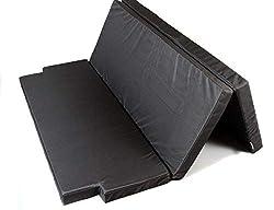 Mayaadi Home Schlafauflage Multiflexboard geeignet für VW T5 und T6 Faltmatratze Matratzenauflage 185x148x6cm MH-SAVWM Schwarz