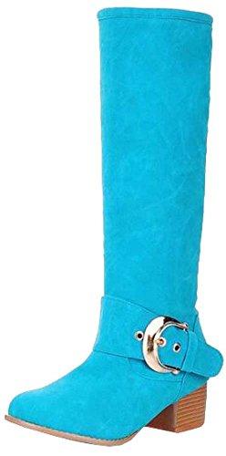 Neu hohe Stiefel Damenstiefel Blau