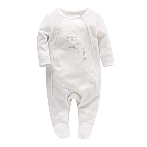 Neonato ragazze pagliaccetto in cotone pigiama stivali jumpsuit bambino tutina outfits, 0-3 mesi