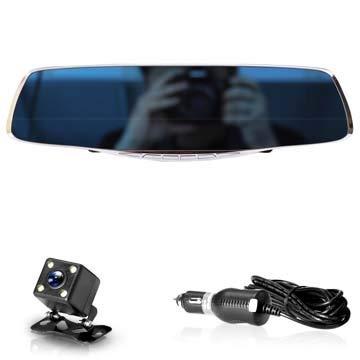 NPNPNP Aufnahmegerät Fahren Car Dvr Camera Rearview Mirror Auto Dvrs Dual Lens Video Recorder Dash Cam Registrator Camcorder Full Hd 1080p Zwei Kamera Duales Objektiv - Dual Lens Hd Light