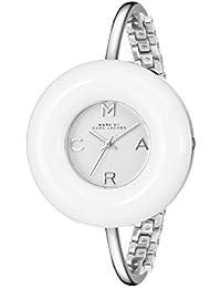 Marc Jacobs MBM3396 - Reloj de pulsera para mujer, correa de acero y esfera con piedras minerales (40mm)