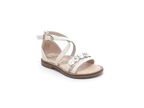 Liu Jo scarpe bambina, articolo 22431, sandalo in pelle e pizzo, colore beige