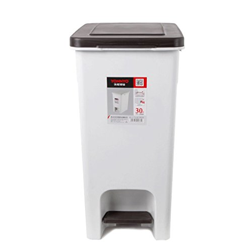 LIUFS Mülltonnen Kunststoff Mülleimer, Pedal Flip Stahlstange Dual-Use Mülleimer 30L Home Outdoor Große Kunststoff Mülleimer (Größe : 30L) - Mülltonne Dual