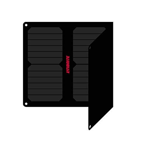 Litionite Arun 20W - 14V/5V Pannello Solare portatile e pieghevole con Tecnologia ETFE/SUNPOWER - Regolatore di Tensione auto - 1x DC - 1x USB - Caricabatterie per Batteria Auto/Power Bank/Cellu