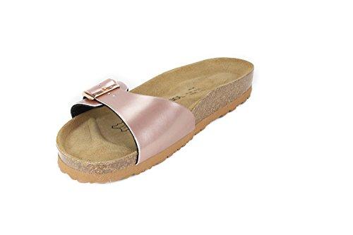 JOE N JOYCE Porto Synsoft semelle souple Sandals Metallic Étroit Nude