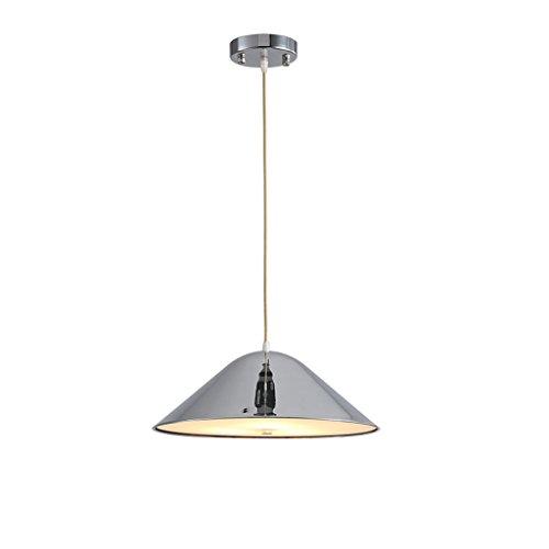 $Beleuchtung Nordic Restaurant Bar Aluminium Pendelleuchten Post Moderne Kreative Nachttisch Raumfahrzeug Aluminium Einzigen Kopf LED-Licht Industrie Innenleuchten ( Farbe : Silber )
