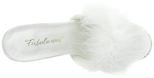 Pleaser AMOUR-03, Damen Sandalen Weiß (Wht Satin-Fur)