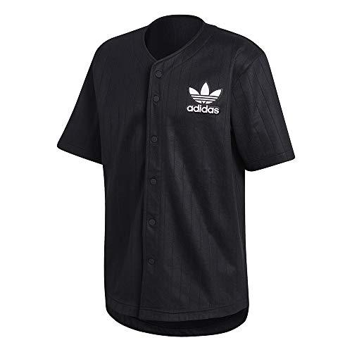 Abdeckung Herren T-shirt (adidas Herren Baseball Jersey T-Shirt, Black/Carbon, M)