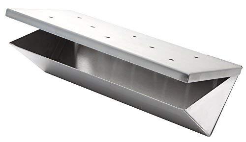 Wood Chip Räucher Box V-FORM aus Edelstahl mit Klappdeckel von Allgrill