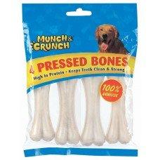 8 Pressed Rawhide Bones approx 4