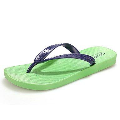 Sommer Sandalen Herrenschuhe legere Gummi Hausschuhe Blau/Grün/Rot Blau