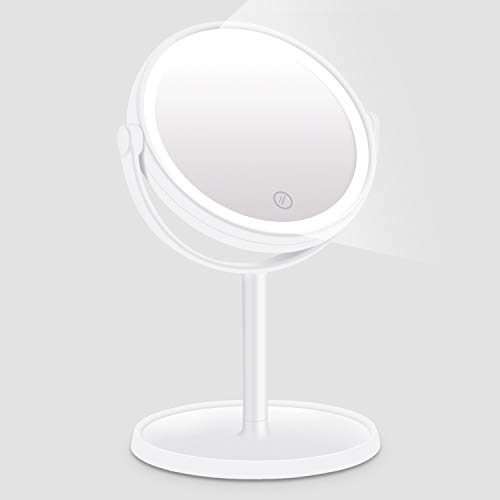 Led Make-up Spiegel Led Licht Doppelseitige Verstellbaren Ständer Schreibtisch Spiegel Tri-falten 5x Vergrößerungs Kosmetische Spiegel Haut Pflege Werkzeuge Schönheit & Gesundheit