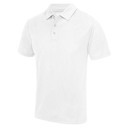 Just Cool - Herren Funktions Poloshirt 'Cool Polo' Arctic White