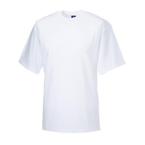 Jerzees Colours Classic T-Shirt für Männer (S) (Weiß) -