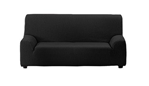 Textilhome - copridivano teide elasticizzato, taglia 2 posti - 130 a 180 cm. colour nero