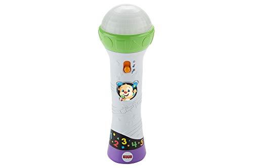 Fisher-Price Micrófono canta y aprende, juguetes bebes (Mattel FBP34)