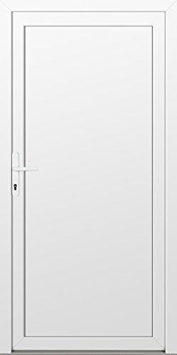 individuelle Nebeneingangstür (nach Maß, glatt, NEU, PVC, weiß, alles inklusive)
