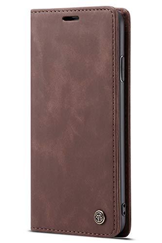 Handyhülle, Premium Leder Flip Schutzhülle Schlanke Brieftasche Hülle Flip Case Handytasche Lederhülle mit Kartenfach Etui Tasche Cover für iPhone 7/8, 7/8Plus -