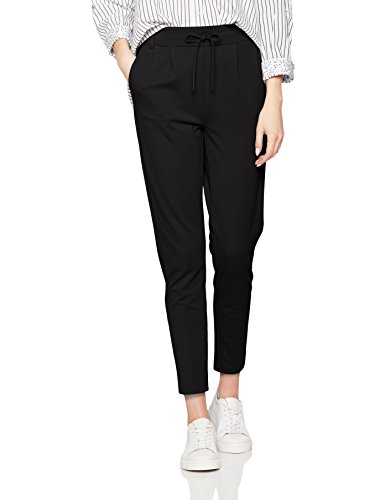 ONLY Damen Tapered Hose onlPOPTRASH Easy Colour Pant PNT NOOS 15115847, Gr. 44 /L32 (Herstellergröße: XXL), Schwarz (Black)