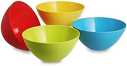 All Time Plastic Mixing Bowl Set, 800ml, Set of 4, Multicolour