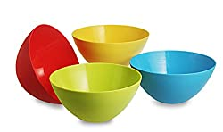 All Time Plastics Mixing Bowl Set, 800ml, Set of 4, Multicolour