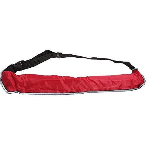VGEBY1 Manuelle aufblasbare Schwimmweste-Taillen-Rettungsring-Gurt-Schwimmhilfe mit den reflektierenden Bändern und Pfeife Portable(rot)