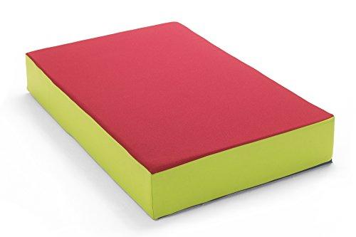 Hüpfmatratze in tollen Farben für alle kleinen Hüpfer 107x70x17 cm rot/grün