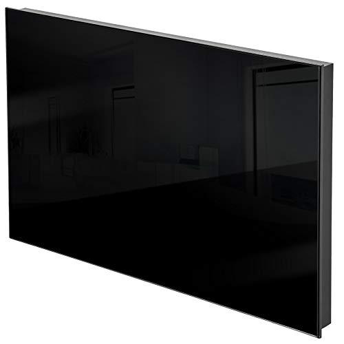 TecTake Riscaldamento a raggi infrarossi pannelli in vetro pannello radiante infrarosso con staffa per il montaggio a parete incluse! - modelli differenti - (270 watt | nero | no. 401084)