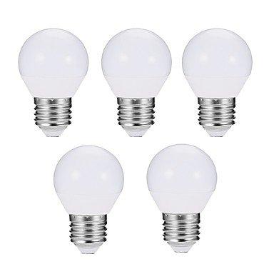 EXUP® 5pcs 7W 680 lm E27 Ampoules Globe LED G45 10 diodes électroluminescentes SMD 5730 Intensité Réglable Décorative Lampe LED Blanc ( Couleur de source : Blanc froid , Tension : AC 180-240V )