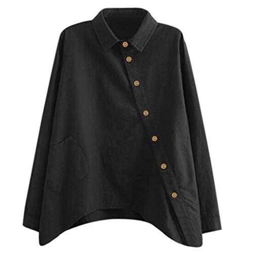 Lazzboy Frauen Beiläufige Normallack Lange Hülsen Hemden Damen Bluse V-Ausschnitt Langarm Oberteil Lose Langarmshirt Tunika Hemd - Machen Sie Ihre Eigenen Batman Kostüm