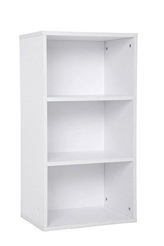habeig Tube Bücherregal Standregal 3 Fächer Belastung Regalboden 30kg Standregal (80 x 42,5 x 29,5...