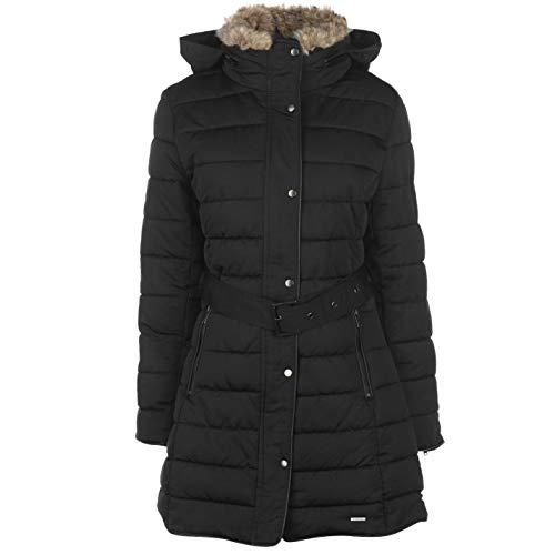 Firetrap Damen Longline Luxe Bubble Jacke Schwarz XL