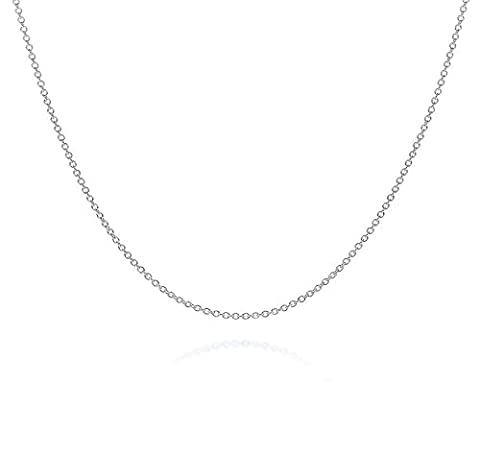 BODYA silver plated Italian 1.2mm rolo cable round marine chain necklace 24