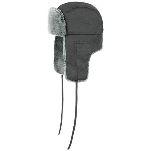 Stetson Old Cotton Fliegermütze - Wasserabweisende Pilotenmütze - Chapka Herren/Damen - Mütze Herbst/Winter - Wintermütze schwarz XXL (62-63 cm)