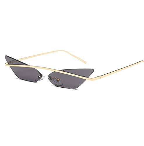 WYJW Herren \u0026 Damen Sonnenbrille mit verspiegelten Gläsern im Cat Eye-Stil Street Fashion Metallrahmen für Mädchen - Mehrfarbig Optional