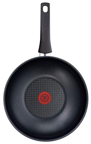 Tefal Elegance C36719 Wokpfanne 28 cm, Aluminium, schwarz