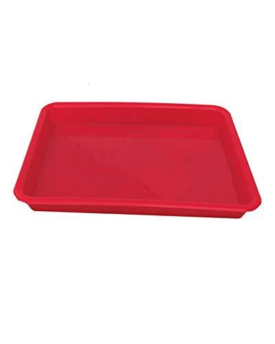 Hotel Rutschfester grüner Kunststoff Hitzebeständiges Tee-Tablett Servierteller Kunststoff-Tablett Rot ()