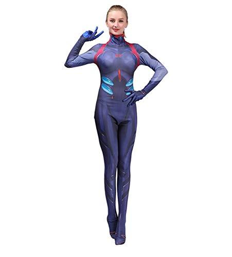 Adegk Kostüm Mädchen Cosplay Kostüm Deadpool Party Cosplay Kostüm Frau Bodysuit,Blue-XXXL-Adult (Deadpool Halloween-kostüm Mädchen)