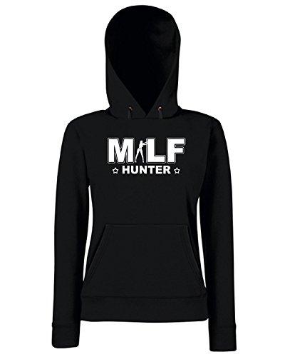 T-Shirtshock - Sweats a capuche Femme TR0088 M.I.L.F. Hunter T-Shirt Noir