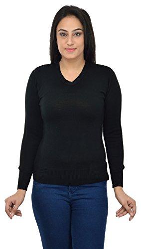 Dynamis Women's Acrylic Cardigan (Black, Medium)