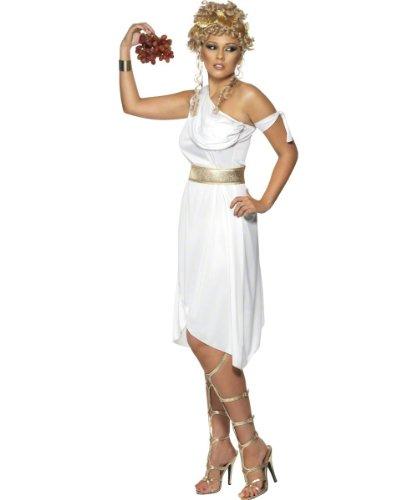 Smiffys - Griechenkostüm Griechen Griechinnenkostüm Damenkostüm weißes Kostüm - Antike Griechische Lady Kostüm