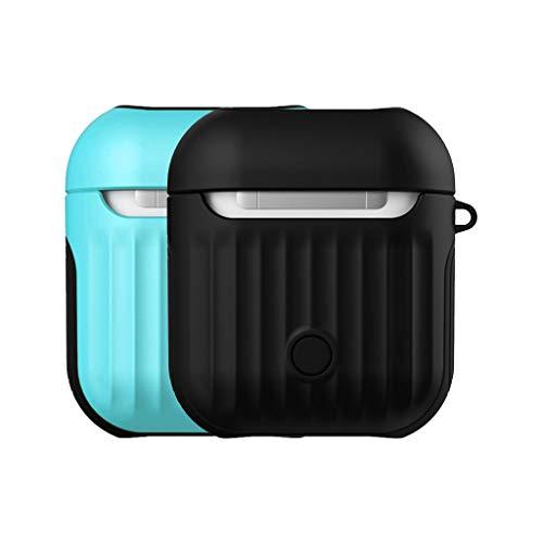 2er Set Headset Tasche für Apple AirPods, Jamicy ® Premium Soft Silikon Multicolor Fall Abdeckung Drop Proof für Apple Airpods (#08) (Ap-audio)
