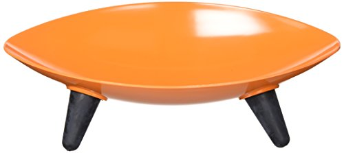 Melamine Couture Sculpture Single Dog Bowl Orange One Size