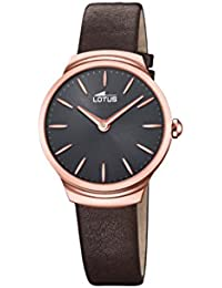 63bfe4d1e4fc Lotus Watches Damen Datum klassisch Quarz Uhr mit Leder Armband 18501 1