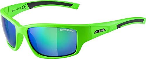 ALPINA Keekor Outdoorsport-Brille, Neon Green-Black, One Size