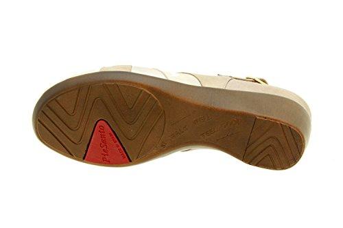 Komfort Damenlederschuh Piesanto 8153 sandale schuhe herausnehmbaren einlegesohlen bequem breit Perla