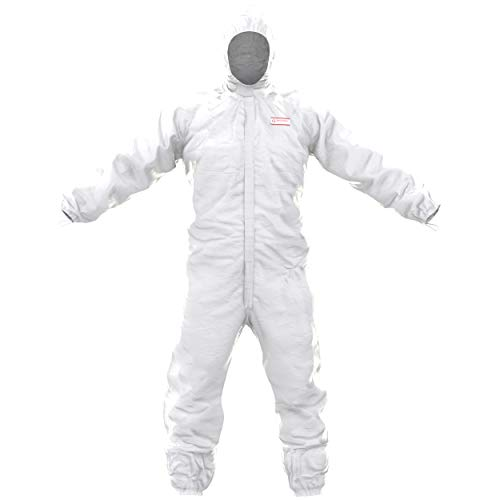 Tuta di Protezione Chimica SafeComfort Modello H | PPE Cat. III Tipo 5/6, con Cappuccio, Cerniera a Due Vie, a Tenuta di Particelle e condizionata a Tenuta di Spruzzi Taglia S