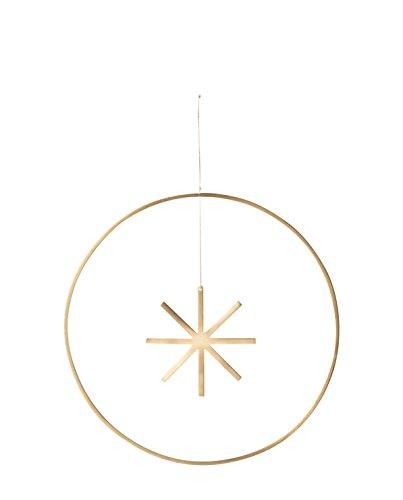 Ferm Living Winterland Messing-Ornament Stern, Ø 25 cm (Metall Ornament Aufhänger Gold)