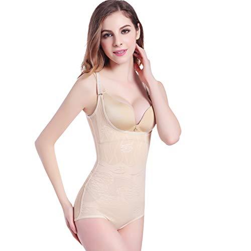 Nahtlose Kontrolle Leibchen (WYGH Shapewear Damen Body stark formend Nahtlos Öffnen Büste Taille Trainer Bodysuit Einstellbar Schulter Gurt und atmungsaktiv Glatt Korsett Geschenk für Liebhaber,Skin Color-XXL)