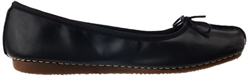 Clarks Freckle Ice, Ballerine Donna Nero (Black Leather)